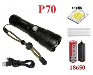 Ручной фонарь Огонь H-758-P70 светодиод XHP70 1 аккумулятор 18650