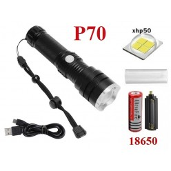 Мощный ручной фонарь Огонь H-858-P70 1 аккумулятор 26650
