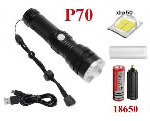Ручной фонарь Огонь H-858-P70 светодиод XHP70 1 аккумулятор 26650