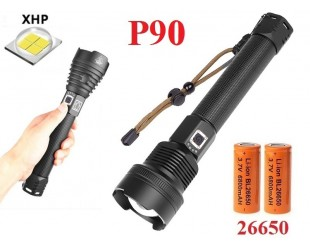 Pучной фонарь YYC-6005-P90 Светодиодный датчик зарядки аккумуляторов 2 шт 26650