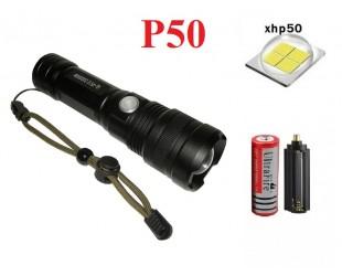 Мощный ручной фонарь GL-P512 светодиод XHP-50 аккумулятор 18650