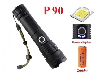 Мощный ручной фонарь со светодиодом XHP90 BL-X71-P90 аккумулятор 1x26650