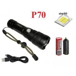 Мощный ручной фонарь Огонь H-812-P70 1 аккумулятор 18650