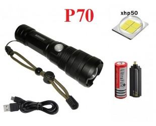 Ручной фонарь Огонь H-812-P70 светодиод XHP70 1 аккумулятор 18650