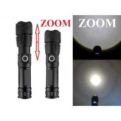 Мощный ручной фонарь со светодиодом XHP90 YYC-X81-P90 аккумулятор 1x26650