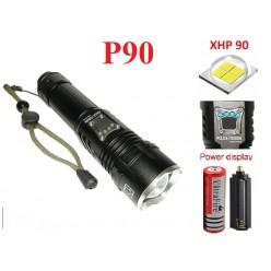 Фонарь ручной YYC-717 светодиод XHP-90 1 аккумулятор 18650