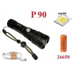 Фонарь ручной YYC-B88-P90 светодиод XHP-90 аккумулятор 26650