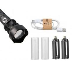 Мощный ручной фонарь со светодиодом XHP70 Огонь H-633-P70 аккумуляторы 2 x 26650