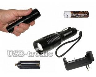 Ручной аккумуляторный фонарь MX-1871-T6 1 бат x 18560