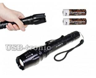 Мощный ручной фонарь MX-8668 2 аккумуляторных батарейки 18650