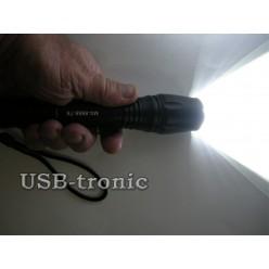 Ручной аккумуляторный фонарь MX-8667 2 батарейки 18650