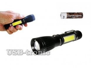 Аккумуляторный ручной фонарь MX-545-T6 светодиоды Cree XML T6 и СOB
