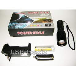Ручной аккумуляторный фонарик HL-WT03 светодиод Cree T6 1 x 18560 Металлический корпус