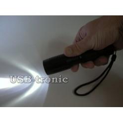 Ручной аккумуляторный фонарик YY-7007 светодиод Cree T6 1 x 18560 Металлический корпус