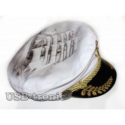 Капитанская фуражка с золотым  шитьём и рисунком № 3 НЕТ В НАЛИЧИИ