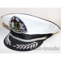 Капитанская фуражка Кокарда Капитан серебряная №2