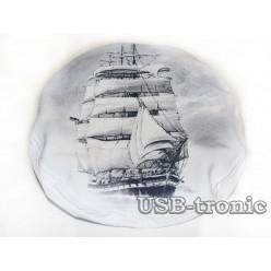 Капитанская фуражка с рисунком №4 Серебро НЕТ  В НАЛИЧИИ