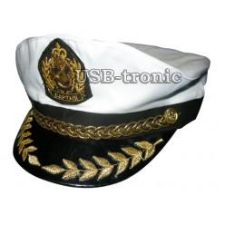 """Капитанская кепка с золотым шитьём """"Captain"""" № 7"""