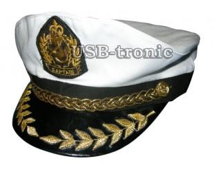 """Капитанская кепка с золотым  шитьём """"Captain"""""""