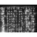 Гирлянда Белый светодиодный занавес с мерцанием 3 на 3 метра 24 шт Белые нитки