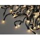 Светодиодная гирлянда Желтый уличный занавес 3 на 3 м Теплый белый свет Черный провод нити 24 шт