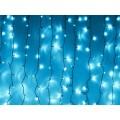 Гирлянда Синий уличный занавес с белым мерцанием штора 3 на 3 метра Черный провод нити 24 шт