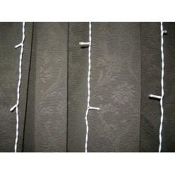 Гирлянда занавес на улицу Белая штора 3х2.5 метра Белые нитки  20 шт