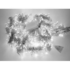 Гирлянда Световой занавес 3х2 метра прозрачные нитки 20 шт Холодный белый свет с миганием белых
