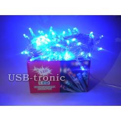 Гирлянда светодиодная нить на елку Синие огни 100 LED