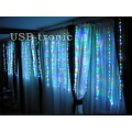 Гирлянда 3 х 2 метра Цветной дождь-водопад 600 LED