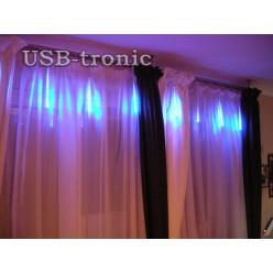 Гирлянда Тающие светодиодные сосульки 30 см 8 штук Синие огни