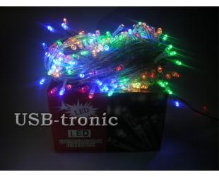 Новогодняя светодиодная гирлянда 300 LED Цветные огни реально 10 метров