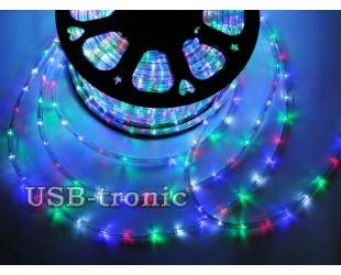 Уличная новогодняя гирлянда Дюралайт 100 метров в бухте многоцветная Winner Light
