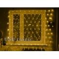 Гирлянда Светодиодная сетка Желтая 1,5 х 1,5 метра