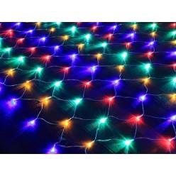 Гирлянда на окно Светодиодная цветная Cетка 2 х 2 м