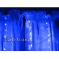 Гирлянда Синий дождь с эффектом водопада 3,0 на 3,0 метра