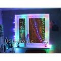 Новогодняя гирлянда Цветная занавеска из светодиодного дождя 1,5х1,5 метра нитки 8 шт