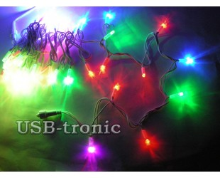 Цветная уличная гирлянда 100 LED на Новый год