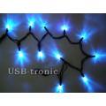Уличная синяя гирлянда 10 метров Neon Черный провод