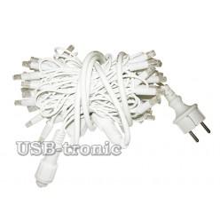 Уличная желтая гирлянда 10 метров Белый кабель