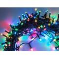 Гирлянда нить на елку светодиодная 48 метров 600 LED Цветные светодиоды Зеленый провод