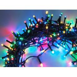Гирлянда нить уличная светодиодная 100 метров 1000 LED Цветные светодиоды Зеленый провод
