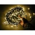 Гирлянда нить на елку светодиодная 48 метров 600 LED Желтые светодиоды Зеленый провод