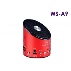 Портативная колонка Wster WS A9 с MP3 плеером  Красная