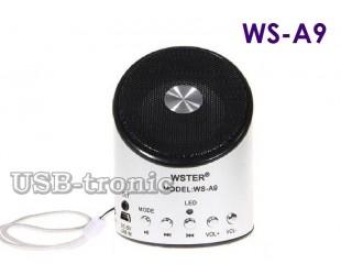 Компактная мини колонка с радио и MP3 плеером Wster WS A9