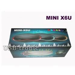 Портативная мини колонка Mini X6U c Bluetooth, fm радио и mp3 плеером Neon 15 см