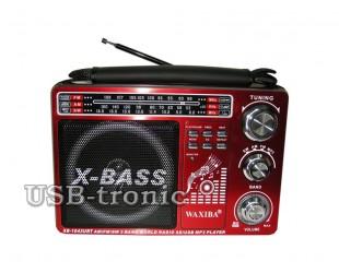 Аналоговый радиоприемник c mp3 WAXIBA XB-1043 URT