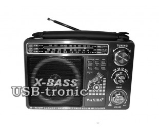 Аналоговый радиоприемник c mp3 WAXIBA XB 1043URT