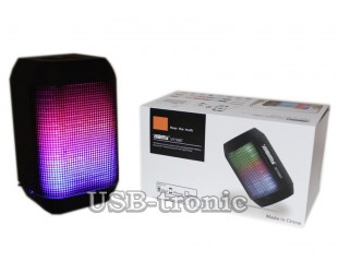 Мини колонка AIBIMY MY-500  с USB и TF Color LED