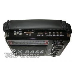 Портативная колонка WAXIBA XB 201URT c радио и mp3 Черная